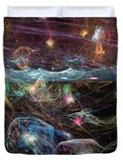 Sea Monsters And Horror Fish  Duvet Cover