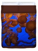 Sea Nettle Jellyfish Duvet Cover