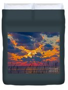 Sea Oats Silhouette Duvet Cover