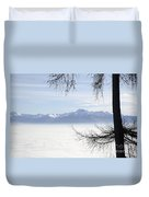 Sea Of Fog And A Tree Duvet Cover