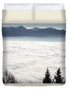 Sea Of Fog And Alps Duvet Cover