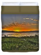 Sea Of Galilee Sunset Duvet Cover
