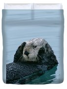 Sea Otter Grooming Duvet Cover