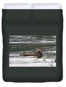 Sea Otter Profile Duvet Cover