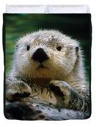 Sea Otter Swimming At Tacoma Zoo Captive Duvet Cover
