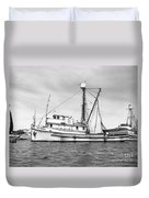 Purse Seiner Sea Queen Monterey Harbor California Fishing Boat Purse Seiner Duvet Cover