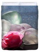 Sea Rose Duvet Cover by Barbara McMahon