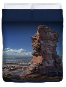 Sea Stack At North Cape On Prince Edward Island Duvet Cover