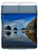 Sea Stack Blues Duvet Cover by Adam Jewell