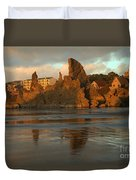 Sea Stacks And The City Duvet Cover