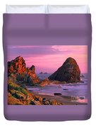 Sea Stacks Clearing Storm Harris State Beach Oregon Duvet Cover