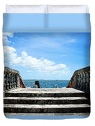 Sea Stairs Duvet Cover