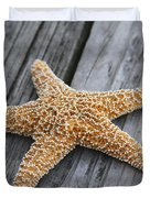 Sea Star On Deck Duvet Cover