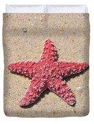 Sea Star - Red Duvet Cover