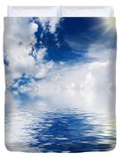 Sea Sun And Clouds Duvet Cover