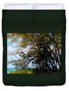 Sea Through Trees Duvet Cover