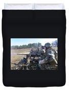 Seabees Fire The M2 .50-caliber Machine Duvet Cover