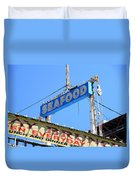 Seafood Sign Duvet Cover