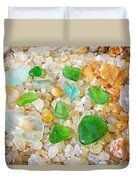 Seaglass Green Art Prints Agates Beach Garden Duvet Cover
