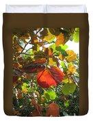 Seagrape Leaves Duvet Cover
