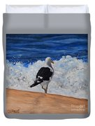 Seagull And Surf Duvet Cover