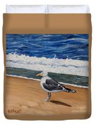 Seagull At The Seashore Duvet Cover