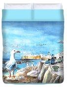 Seagull In Essaouira In Morocco Duvet Cover