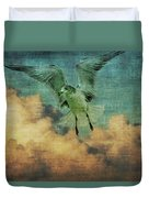 Seagull In The Clouds Duvet Cover