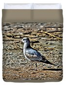 Seagull On The Beach Duvet Cover