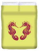 Seahorses In Love Duvet Cover