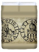 Seal Of The Knights Templar Duvet Cover