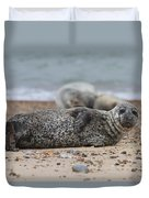 Seal Pup On Beach Duvet Cover
