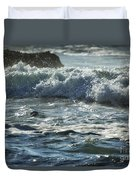 Seal Surfing Waves Duvet Cover