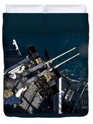 Seaman Fires Twin .50 Caliber Machine Duvet Cover