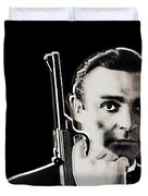 Sean Connery James Bond Vertical Duvet Cover
