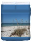 Seaoats And Beach Duvet Cover