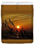 Seaoats And Sunrise Hatteras Island 1 7/31 Duvet Cover