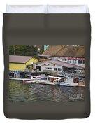 Seaplane Parking Duvet Cover