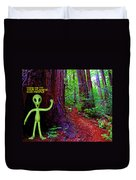 Searching For Friends Among The Redwoods Duvet Cover