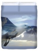 Searching The Sea - Seagull Art By Sharon Cummings Duvet Cover