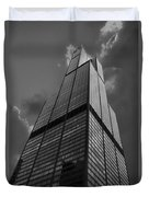 Sears Willis Tower Black And White 01 Duvet Cover