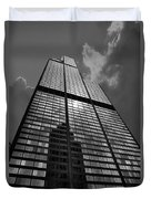 Sears Willis Tower Black And White 02 Duvet Cover