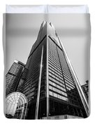 Sears Willis Tower Chicago Black And White Picture Duvet Cover