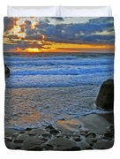 Seascape At Marthas Vineyard Duvet Cover