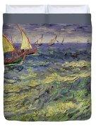 Seascape At Saintes-maries 1888 Duvet Cover