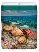 Seascape - Red Rocks  Duvet Cover