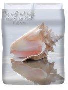 Seashell Be Still Duvet Cover