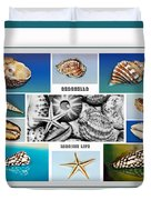 Seashell Collection 3 - Collage Duvet Cover