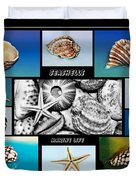 Seashell Collection Duvet Cover by Kaye Menner