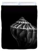 Seashell On Black Duvet Cover